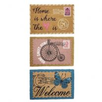 JVL Vintage Latex Backed Coir Mat 40x60cm - Assorted designs